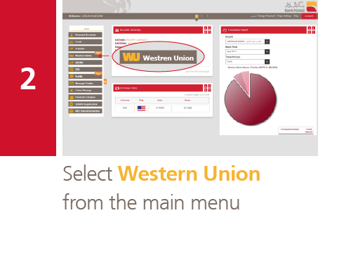 Bank Abilad - Transfer via Western Union Online Through Albilad Net