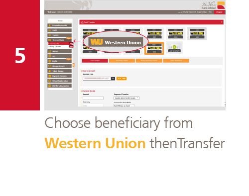 Bank Abilad - Transfer via Western Union Online Through